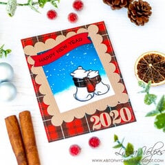 Happy New Year Card feat Calendar SVG file