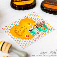 Scrapbook com Domed Ink Blending Tools |  Fall Card feat Lawn Fawn Thanks a Latte