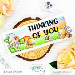 Slimline Spring Card feat LDRS Creative
