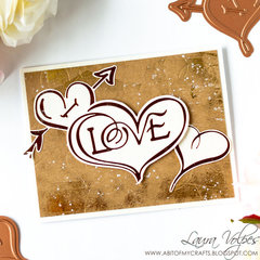 Foiled Valentine's Day Card feat Spellbinders Glimmer Hot Foil