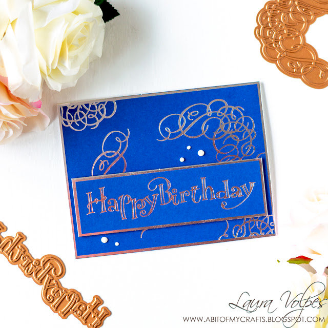 Foiled Birthday Card with Paul Antonio Glimmer Plates