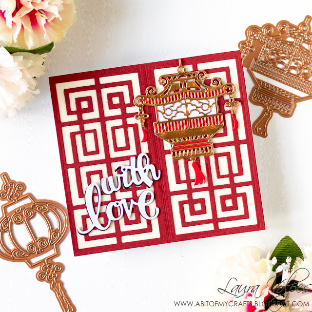 With Love - Card with Die Cuts Only