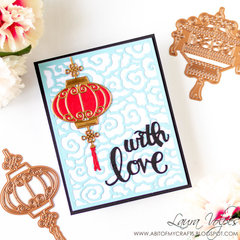 Card with Die Cuts Only feat Spellbinders