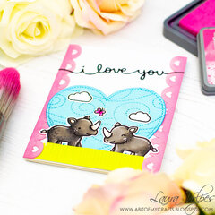 Cute Valentine's Day Card with Scrapbook.com Borders SVG Files