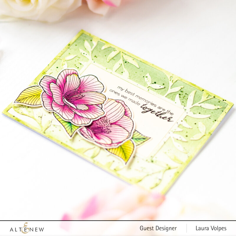 Watercolor Floral Card with Altenew Cherished Memories