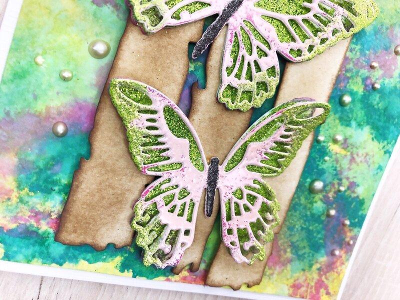 Mixed Media card Butterflies