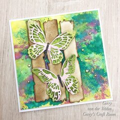 Mixed Media card Butterflies