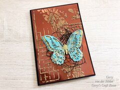 Butterfly on mirror card