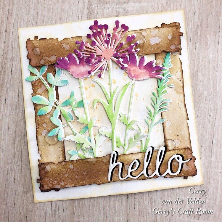 Hello Mixed Media card