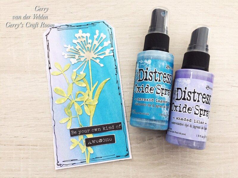 Ways to use Distress Oxide Sprays without spraying