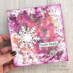 Easy Art Journal frozen beauty