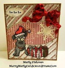 Crazy Dog Christmas Card