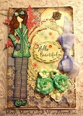 Julie Nutting Doll Stamp card