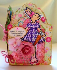 Springtime Julie Nutting Bunny Tag Book (page 1)