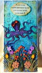 Octopus' Garden Birthday Card