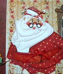 Jolly St. Nick in his PJ's
