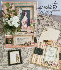Graphic 45 Portrait of a Lady Easel card set