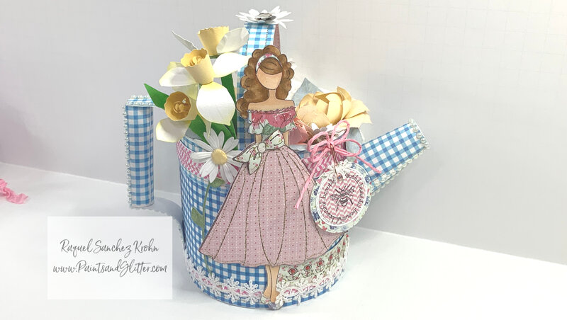 3D Watering Can with Julie Nutting Doll