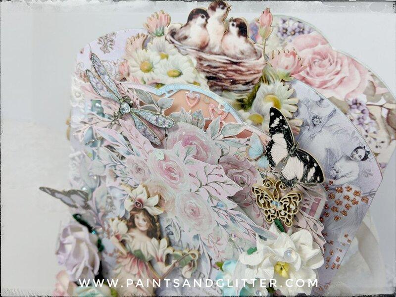 Secret Garden Mini Album using Mythical Glade Dies