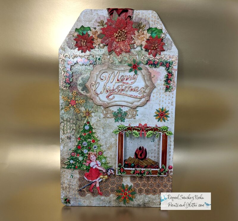 Vintage Christmas Home Decor Wall Art