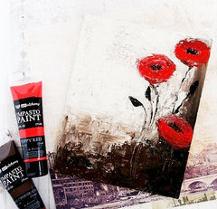 Poppies in the field canvas