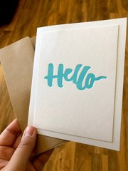 Letterpress - Hello
