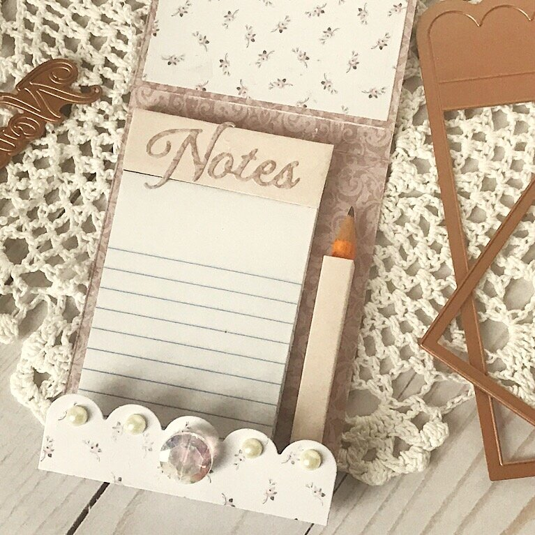 Shabby Notepad Caddy