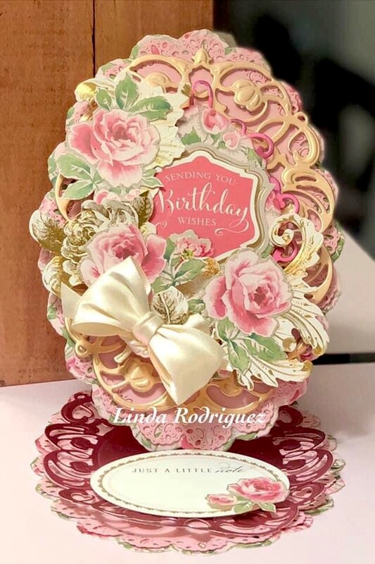 Anna Griffin Birthday Roses Easel Card
