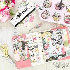 March Carpe Diem Planner set up.
