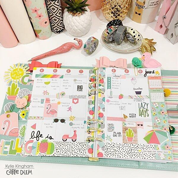 Hello Summer Planner Layout