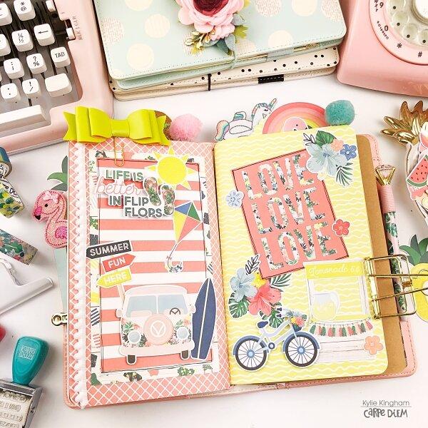 Carpe Diem Planners Traveler's Notebook.
