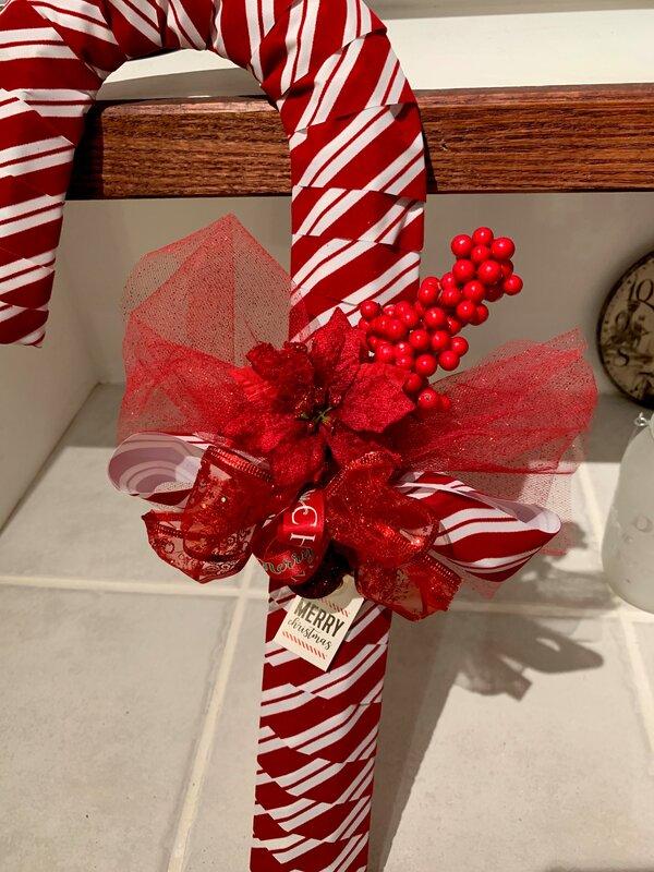 Candy cane decoration