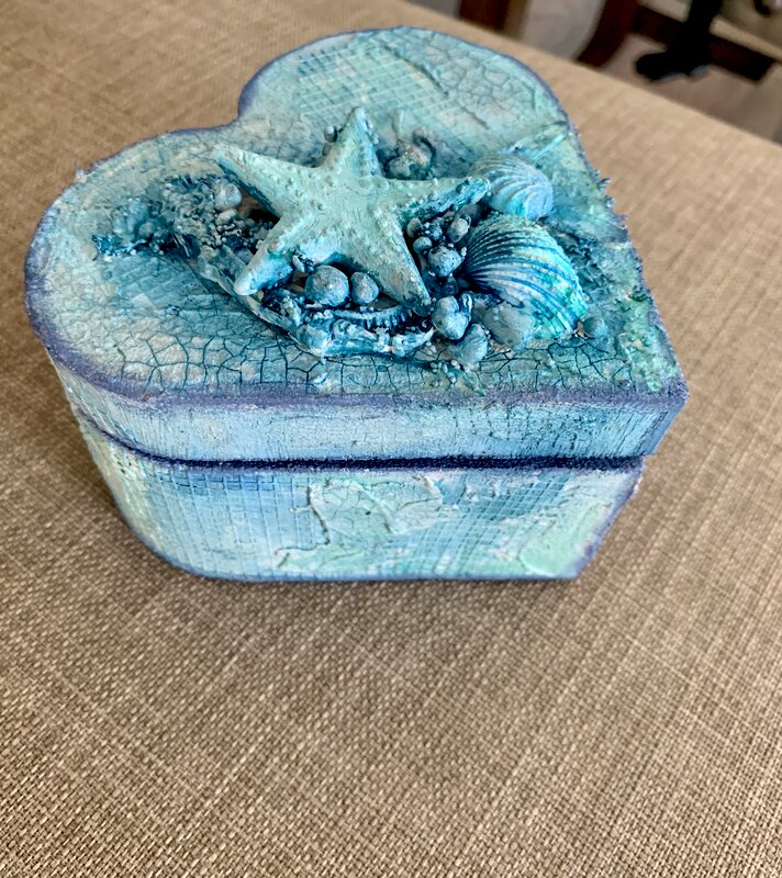 Sea themed box for my friend