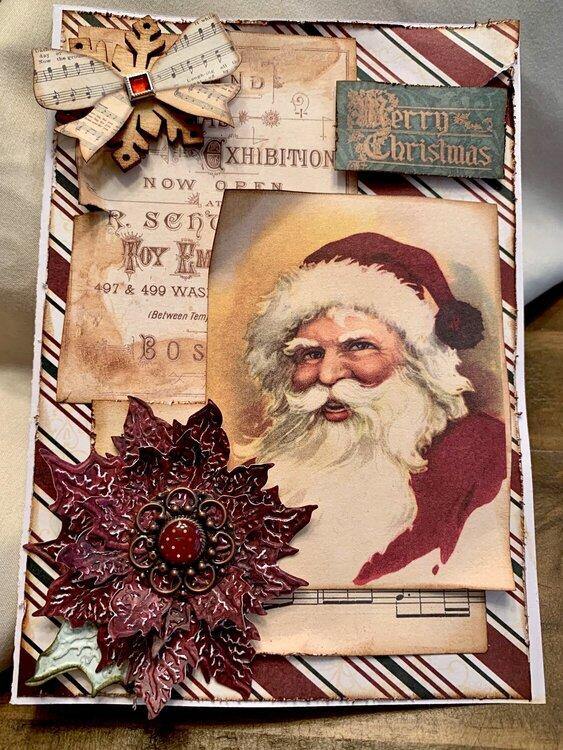 Christmas card, Santa