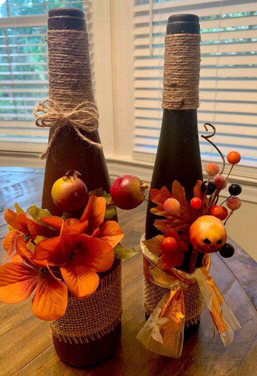 Bottle decoration for fall