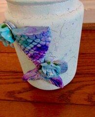 Mermaid mason jar