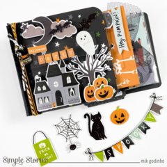 Invitation album with Spooky Nights Collection - Simple Stories