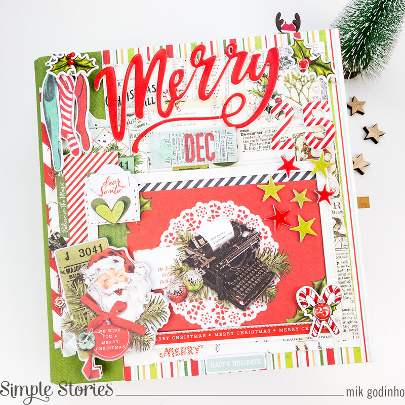 Snap Binder with SV North Pole Collection - Simple Stories