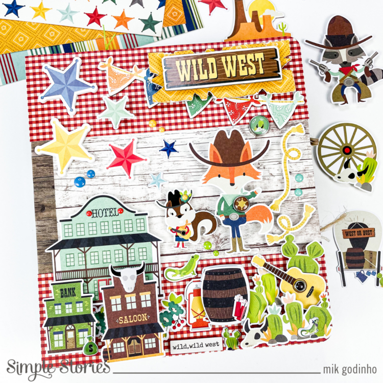 Snap Binder with Howdy Collection - Simple Stories