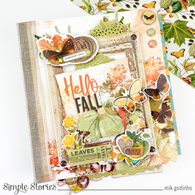 Snap Binder with SV Country Harvest Collection - Simple Stories