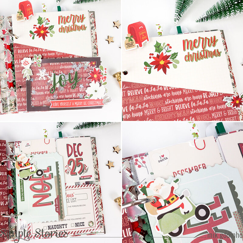 Holiday Snap Binder with Jingle All the Way Collection - Simple Stories