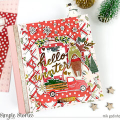 Snap Flipbook with Winter Cottage Collection - Simple Stories