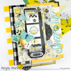 Snap Binder with SV Lemon Twist Collection - Simple Stories