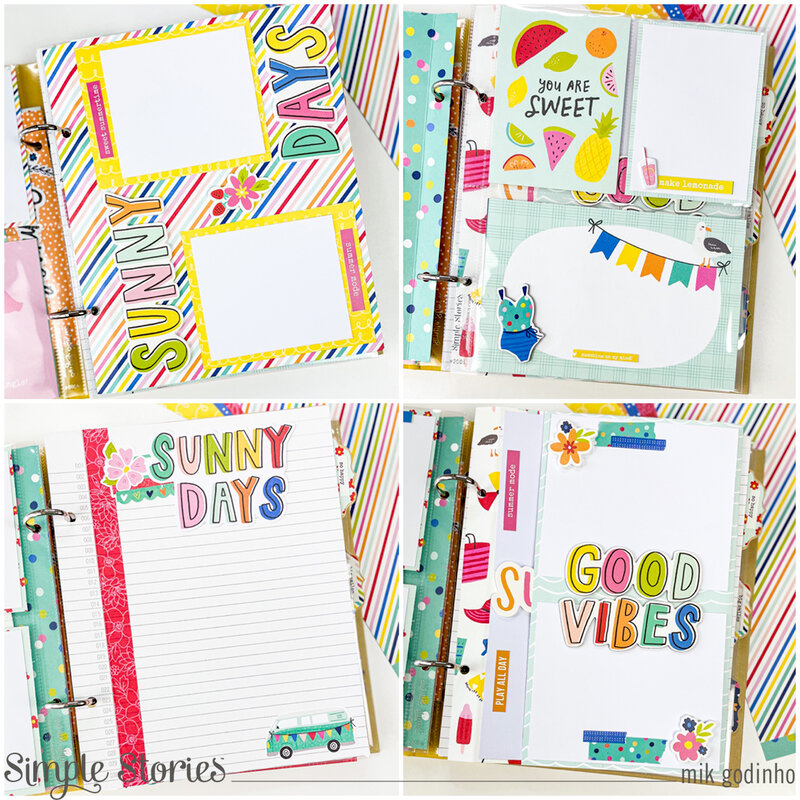 Snap Binder with Sunkissed Collection - Simple Stories