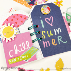 Mini album with Sunkissed Collection   Simple Stories