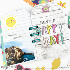 Mini album with Sunkissed Collection | Simple Stories