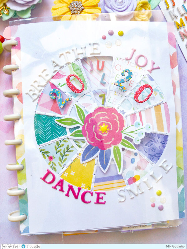 2020 Planner Spinner made with Paige Evans' Bloom Street Collection