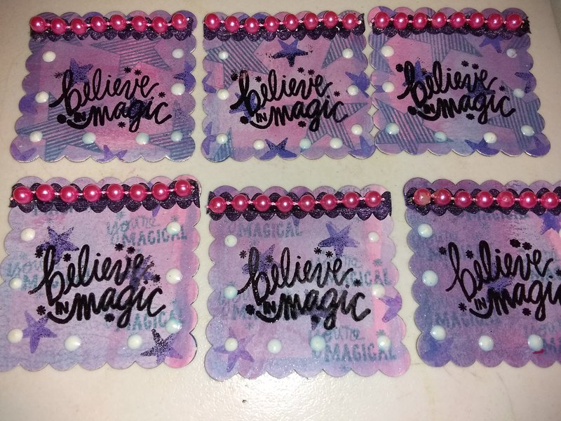 Believe in magic embellishments