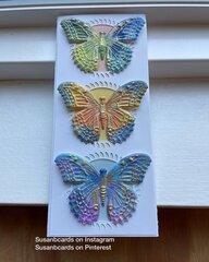 3 Impresslit Butterflies