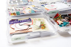 My Crafty Essentials - Organizing with Clear Craft Storage Boxes